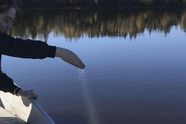 esparcir cenizas lago